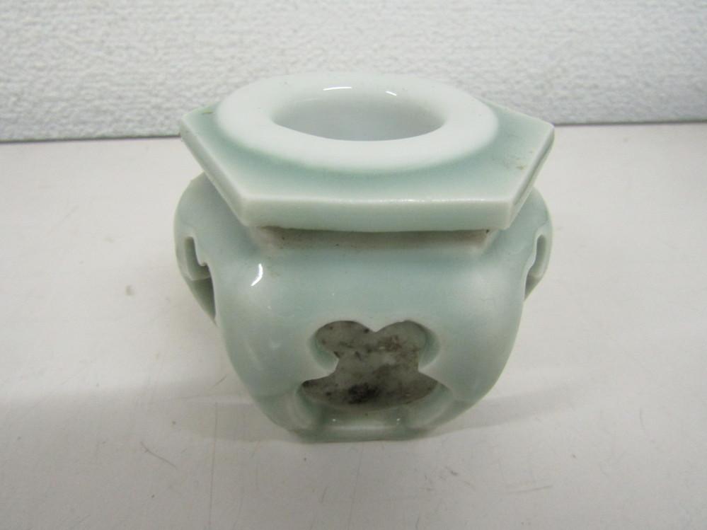 祖父が残した茶道具の中にこれがありました。インク壺と思いましたが茶道具でしょうかお教えください。