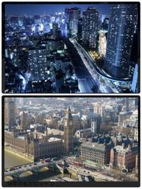 建物の技術、都会っぽい風景に関しては、日本の方がヨーロッパより上ですよね? ヨーロッパっていまだに、街並みが古いというか、すぐ壊れそうな建物ばっかり。古そうに感じる。ロンドンでも、なんか街並みがイマイチしっくりきませんし。 それに比べて日本、東京。大都会って感じのするビルがたくさんある。頑丈そうだし。