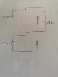 AC200v回路とAC100v回路をこのように測定するとショートするのでしょうか? 電気に関して無知ですので滅茶苦茶な 質問ですが回答よろしくお願いします。