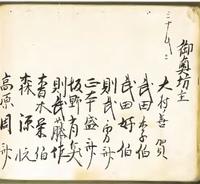古文書に書かれている旧字体について。   写真の古文書の右から4人目の方なのですが、「則武」より下は何と書いてあるのでしょうか?