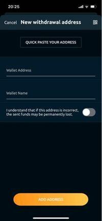 ビットコインをnicehashからバンドルカードに、送金できるって聞いたんですけど。、この写真のwalletnameの所に、何て入力すればいいのか分かりません。