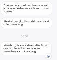 至急。ドイツ語がわかる方、翻訳をお願いいたします。 日本に来るらしいから美味しいラーメン屋さんの話をした返事が、翻訳機を通しても理解できなかったので質問させてください。