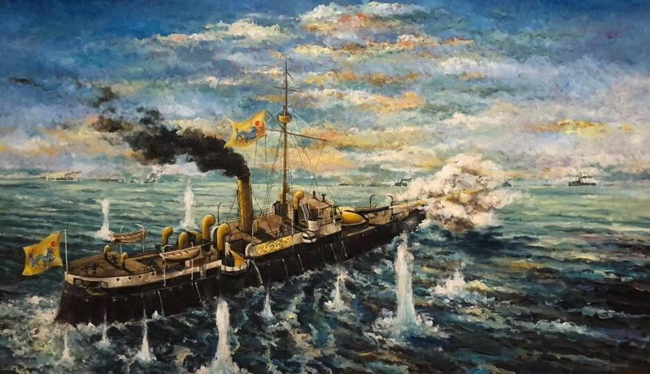 在这场规模空前的甲午海战中,庞大的北洋舰队全军覆灭,日本联合舰队却一舰未沉。 北洋海军战败后,西方各国舆论都认定日本海军训练有素、作战勇敢,而中国海军指挥不力、缺乏素养。 在海战中身负重伤的马吉...