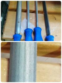 DIY 鉄工用ヤスリと木工用ヤスリの 見分け方を教えてください 写真の ヤスリはどちらになるでしょうか