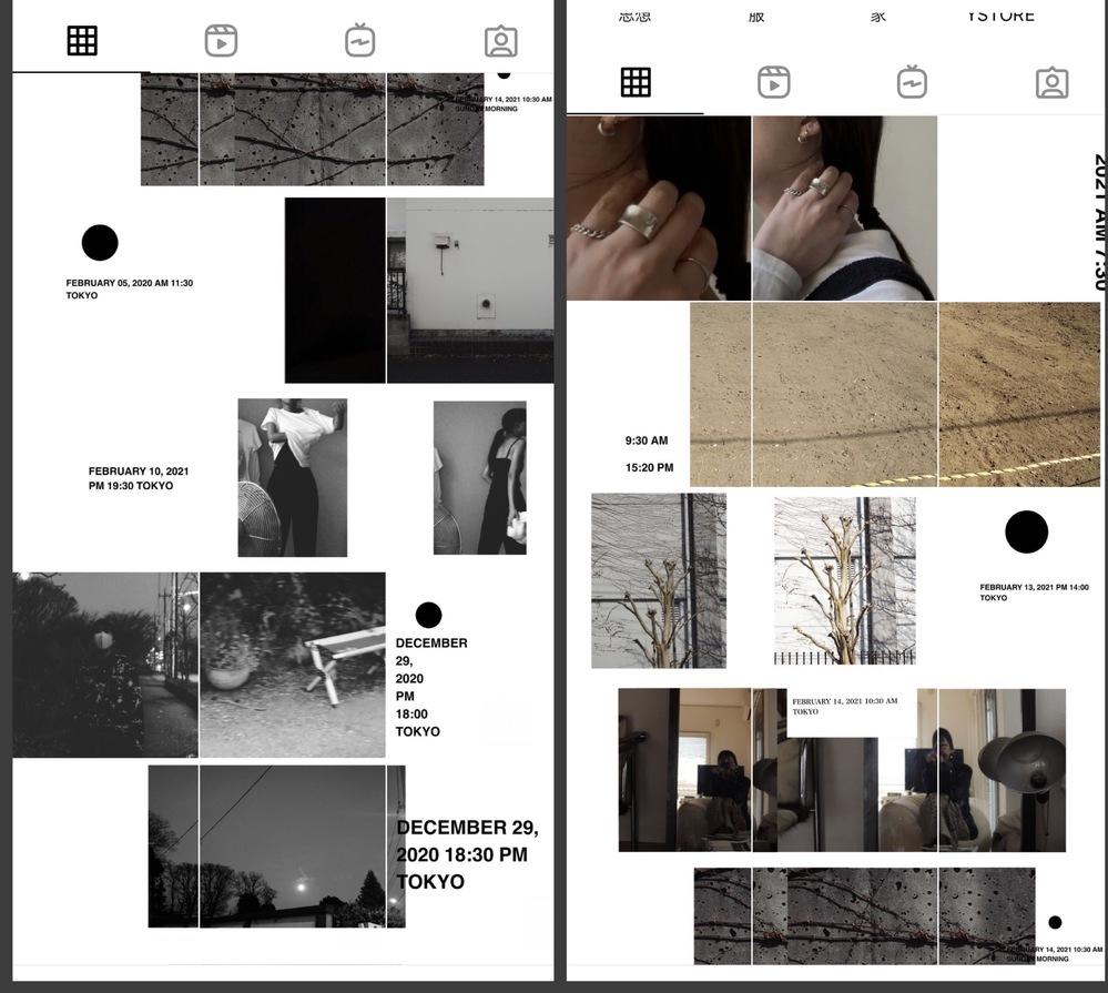 画像のようなインスタ投稿するのに必要なアプリ教えて頂きたいです。 普通の分割ならGrid Postというアプリを使ってやっているのですが、 画像のような余白を入れて綺麗に分割するアプリ(ipho...