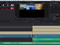 DaVinci resolveで編集をしています。クリップのつなぎ目で、動画の半分が黒くなる現象に困っています、原因が分かる方教えていただきたいです。画像の通りです。