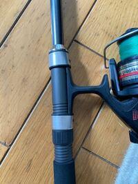 釣り竿にリールが一応入るんですけど画像のように余ってしまいます。これでもいいんですかね?
