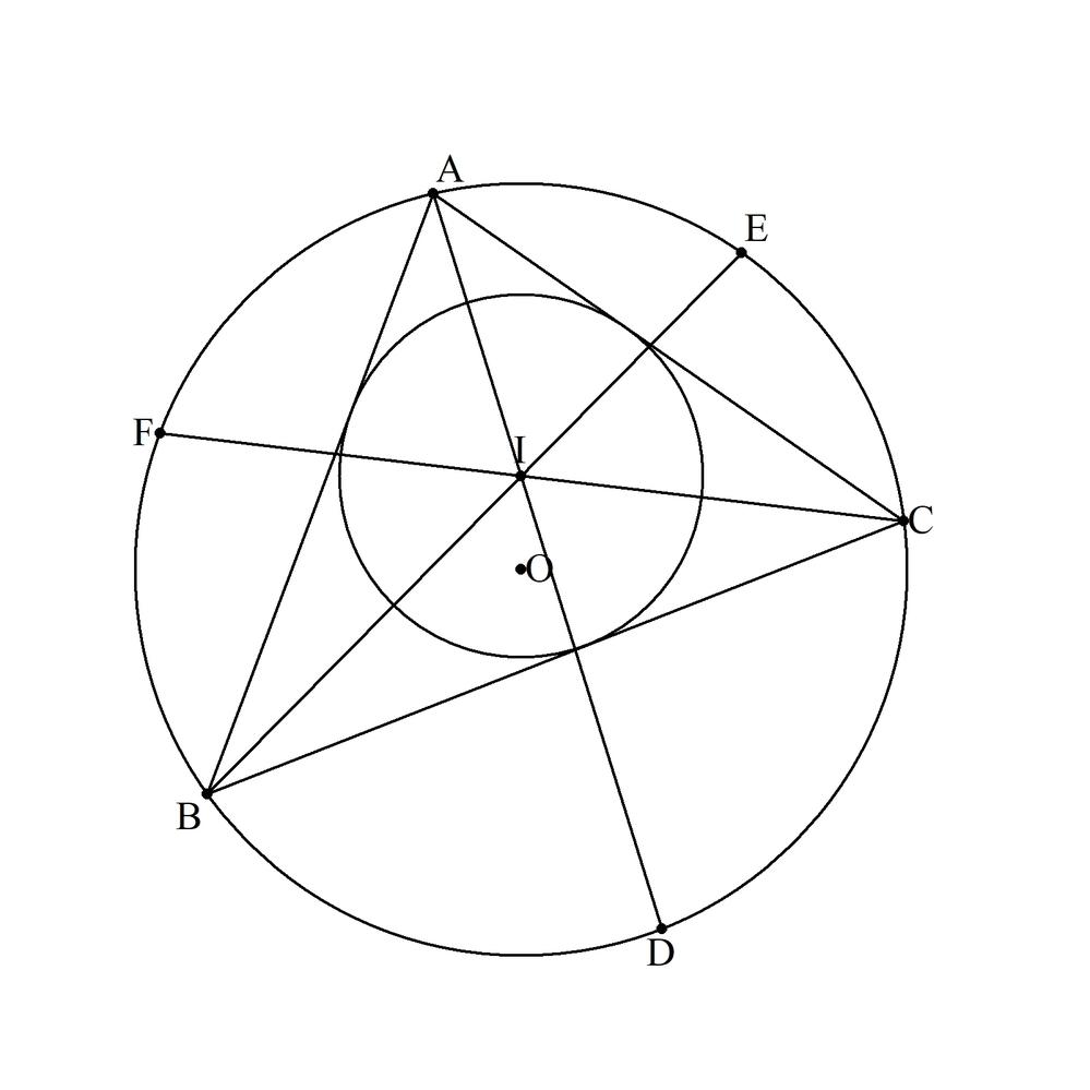 [まとめ2] △ABCの内心をI(半径r)とします。 AI=x、BI=y、CI=z、のとき、 p=x²y²+y²z²+z²x²、q=xyz、とし m³-pm-2q²=0 の方程式の解をmとすると 三辺は、 a=√((m+y²)(m+z²)/(m+x²)) b=√((m+x²)(m+z²)/(m+y²)) c=√((m+x²)(m+y²)/(m+z²)) であることを証明して...