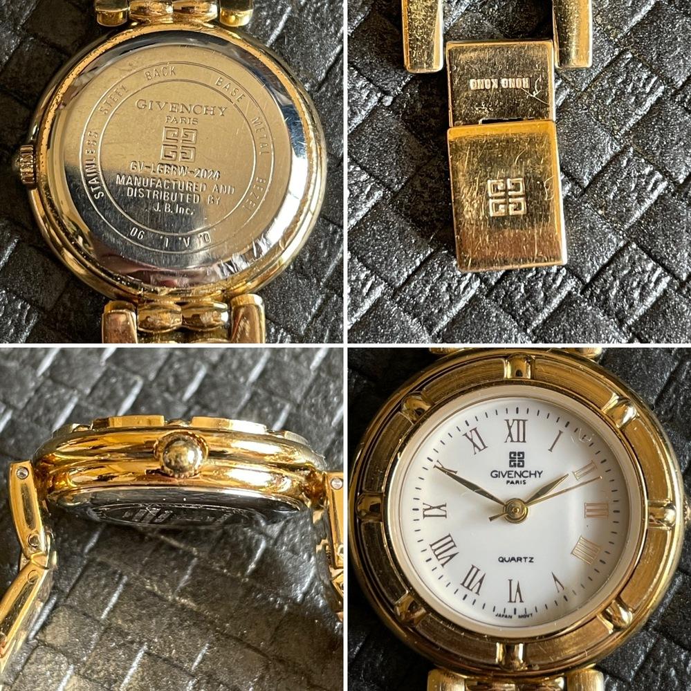 先日ジバンシーの時計を頂いたのですが本物かわかる方いますでしょう?回答よろしくお願いします。