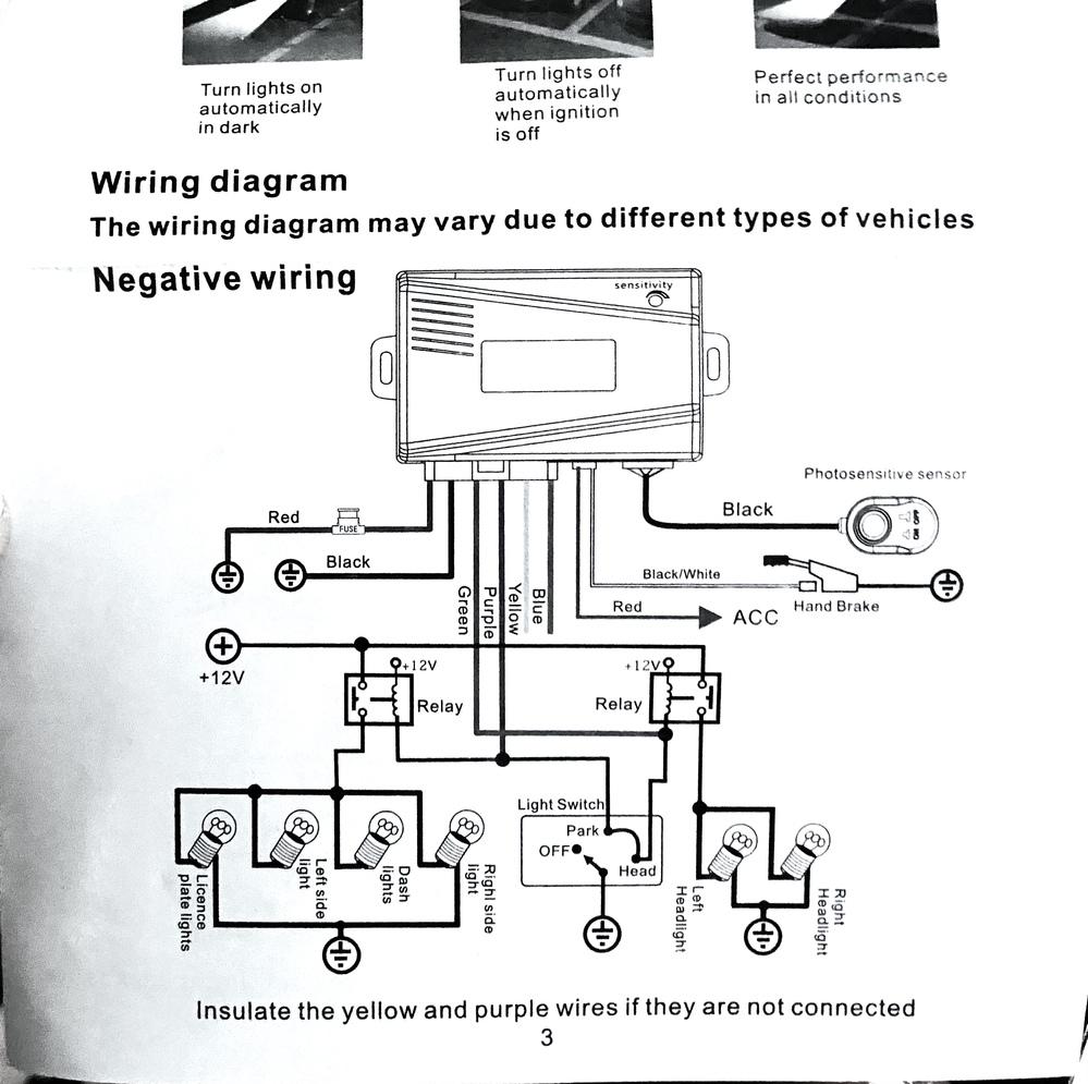 オートライトキット取り付けについて質問させてください。 先日、JB23W 7型ジムニーにオートライトキットを取り付けしようとしたのですが、どうにもうまく作動しません。 まず愛車はヘッドライトがマイナスコントロールで、スモールライトがプラスコントロールです。 そのため、スモール側にのみ4極リレーをかませマイナスへ極性反転して接続し、ヘッドライトはそのままの状態で接続しました。 そのほかの配線も終え、センサー部分を隠すと、キット本体からカチっという音がしてヘッドライトは点灯するのですが、スモールが点灯しないため、テールランプとメーターのライトが点かない状態です。 4極リレーからなんの反応もないため、リレーの故障かと思ったのですが、そのほかの機器に接続した状態では正常に動くため故障ではないようです。 極性反転については、ネットで極性反転方法として挙げられていた配線として、エーモンの4極リレーを使用し、青線を車両側スモール線へ、赤線をオートライトキットへ、黒と黄色を共にアースへ接続しています。 なにか間違いや解決方法がございましたら、お知恵を貸していただけると幸いです。よろしくお願いします。