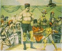 日露戦争の風刺画です。 これの作者を教えてください。 どの国の人が描いたとかでも良いです。