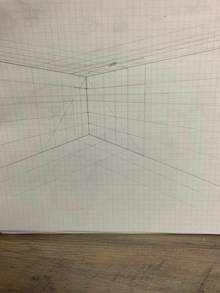 壁に500mm感覚で線をひき四角のマスを描きたいのですが最初の2500mmからのやり方が分かりません。分かる人教えて下さい…語彙力がなくてごめんなさい…汗