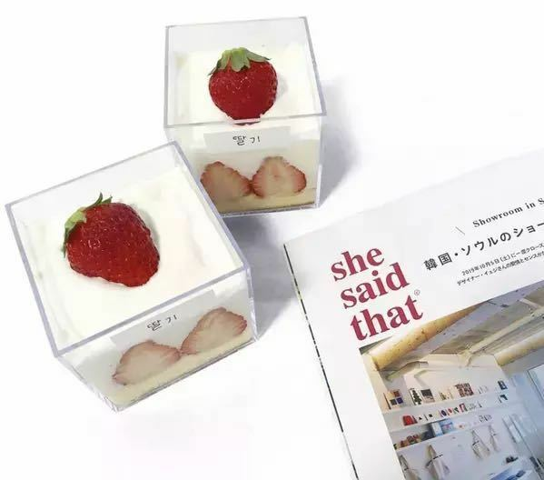最近グラスケーキが流行ってて作りたいなと思ったのですが、よくインスタとかで見る四角の透明の入れ物ってどこで売ってるんでしょうか、、、。