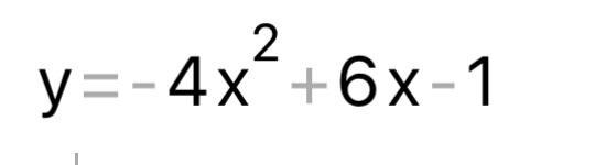 これを標準式に直す途中式を教えてください