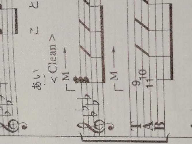 ギター譜について質問です。この→Mはどういう意味でしょうか