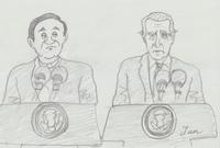 ボンジュール(^O^)/  先ほど日米首脳会談の共同声明がありました。 バイデン大統領は海外から招いての首脳対談は菅総理は初めてらしいですね。 菅総理はちょっと緊張がありましたが無難に声明を発していたように感じます。  皆さんに質問致します。 皆さんは今後、日米関係の何に期待していますか?   イラスト下手なのはご容赦くださいねー(*^^*)