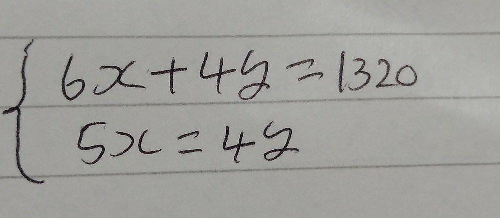 この中2連立方程式の解き方を教えて下さい!