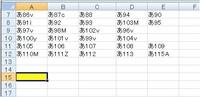 エクセルで文字列の中の数字の最大値を抽出する関数はありませんか? この中で一番大きな数字は115ですが、A15のセルに表の数字の最大値「115」または「あ115」と表示されるようにしたいです。  数字は「あ1」からダブらないように連番で入れてまして、次は「あ116」を使うのですが、ランダムに数字が並んでいるため表の中の一番大きな数字がA15に表示されるようにしたいです。