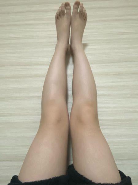この足は太いですか?(足を壁に立ててる状態です) 良かったら脚やせについて教えて下さると嬉しいです