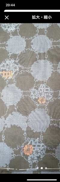 大島紬の柄について わかる方教えて下さいm(_ _)m これは何の模様でしょうか?