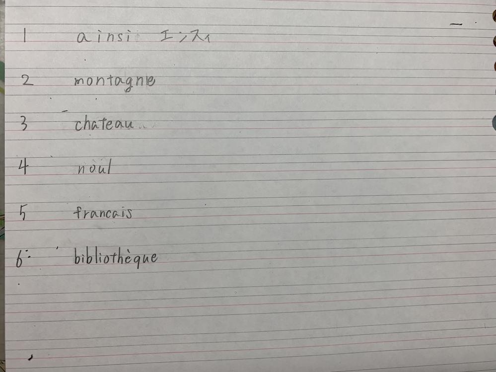 これらのカタカナ表記を教えてください! あとローマ字の上につけるやつもあったらおしえてください!フランス語です!