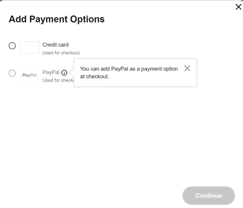 ebayでの支払い方法に関して質問です。 ロシアの出品者から「paypalで頼む」と言われたのでpaypalを支払いに登録しようとした所下の表記がなされ、登録できませんでした。paypalとのリ...