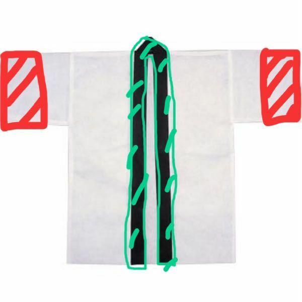 緑と赤の部分に新たに布を縫い付けたいのですが、どのような縫い方をしたらいいでしょうか?