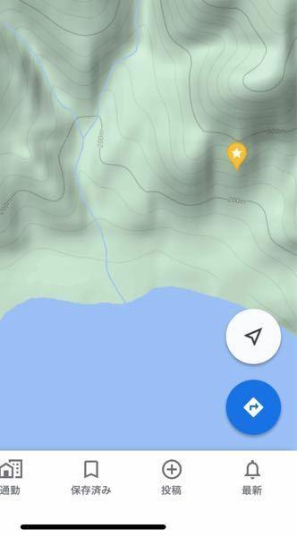 Googleマップ地形図の等高線の見方を教えて下さい。 星の地点から湖畔まで標高差はどれぐらいになりますか? また、湖畔までの距離を知るにはどうすれば良いですか? 縮尺が出てくるのですが、一瞬で消えてしまってよくわかりません。 メートルとヤードが棒線で示されるのですが。 よろしくお願いします。