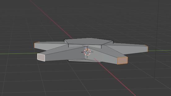 Blenderモデリング初心者です。 とある投稿者の星を作ると言うチュートリアル動画を見ながら作っていたのですが、面を選択して<それぞれの原点>から<S>を押して形を作る、間違っていないはずなんですが、変な風に押し出しされてしまいます。 原因を教えてください