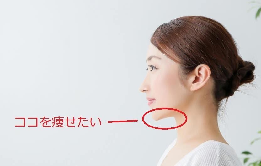 顎の下を痩せる方法 顎の下がぼてっとしていて痩せたいので、良いトレーニング方法とかを教えて下さい! 赤丸で囲っている場所です。(写真の女性はすっきりとした顎ですが・・・。)