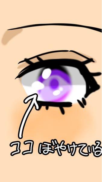 夢絵依頼とかしてる人のイラスト(絵柄)について聞きたいです。 よく、黒目の部分をぼかしている人(写真参照)いるんですけどなんでぼかすんですか? これ可愛いんですか?