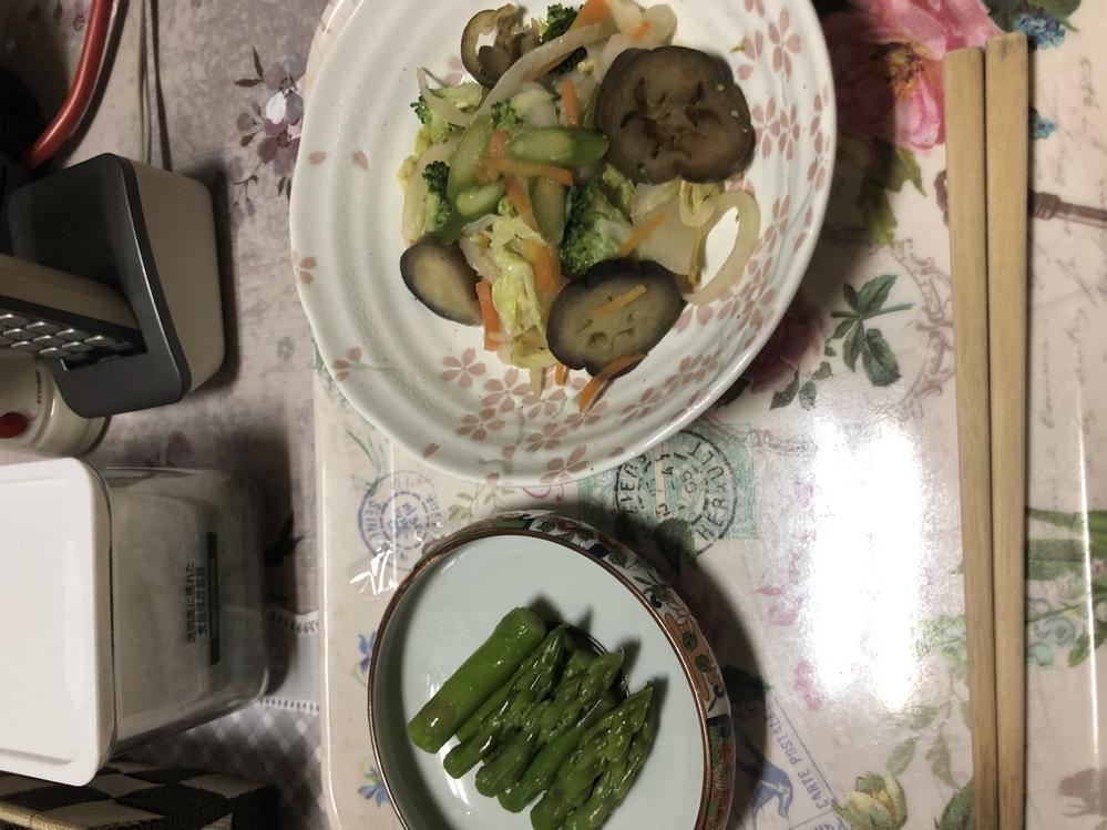 今日の夕食です。量どう思いますか?
