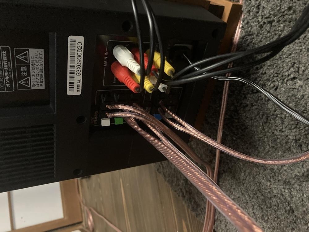 ONKYOの5.1chのケーブル接続方法が分かりません。 アンプとウーファーとテレビとケーブルチューナーのつなぎ方が分かりません。 アドバイスください 助けてください ed-l1