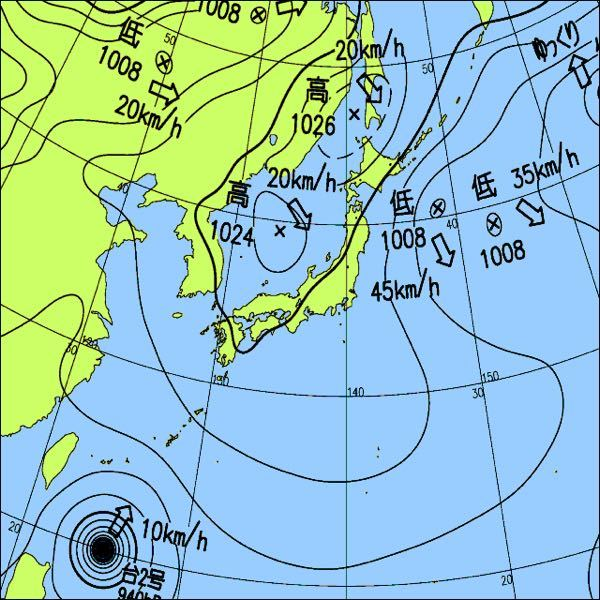 一昨日から日本に大きく張り出している高気圧は何という名前ですか?