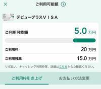 カードの利用可能額について カードの利用枠が20万円で4月は既に7万円使っていて、てっきりあと13万円使えると思い本日10万円のものを支払いしようとしたところ使えませんでした。 確認したところ利用可能額が5万円だったのですが何故なのでしょうか。 また利用残高とはなんでしょうか。