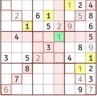 対角線のあるナンプレで行き詰まってます。 ここから先どういった解き方をしたらいいのか教えてください。