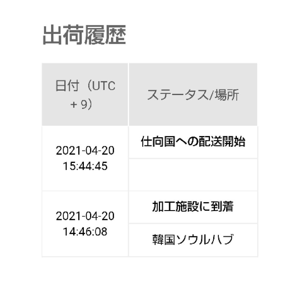 Qoo10で商品を購入しました。 Qxpressという配送業者で日本に輸送されてくるみたいです。 今の配送状況がこんな感じなのですが、いつぐらいに到着する感じでしょうか? Qoo10は何回か使ってるので、配送がゆっくりな事は分かってます。 ただ、大体3日で国内に到着していたので、3日目の今日まだ到着していないようだったので気になりました。