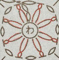 """編み物、編み図、かぎ針編みについて質問です。 下の画像は最近購入した、 かぎ針編みの書籍に載っていた編み図の一部です。  この赤い部分は""""わ""""の中に鎖編みを 編み入れるということなのでしょうか?  実際に試してみたのですが、 どうも引き抜き編みのような形になります。  これが正解の場合、 引き抜き編みの記号にしないのは、 何か理由があるのでしょうか?  もしくはお恥ずかしながら全然違う 他の..."""