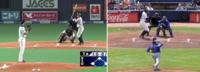 「野球中継のカメラ位置について」 日本での野球中継ではセンターのやや右側(守備側から見て)にメインのカメラがありますがメジャーではセンターの真後ろのカメラからの中継もされたりもしています。こちらの方が投球のコースが見やすくて良い気がしますがあなたはどっちが良いと思いますか?(その代わりに投球の高低が少し分かりにくい気もしますけど)