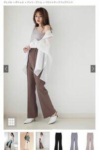身長152cm 体重47kgの下半身デブにこのフレアパンツは履けるでしょうか?? 股下がサイズ全て同じなので履けないことは無いと思いますが、太ももが強く強調されるでしょうか。