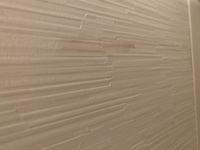 トイレ用洗剤のスプレーボトルが漏れているのが気づかず洗剤がついた部分の壁紙が写真のようにピンク色に変色してしまいました。 自分でどうにか綺麗にする方法はないでしょうか? よろしくお願いします。
