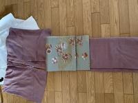 紫の鮫小紋です。卒業式に着るならばこの帯でも大丈夫でしょうか。