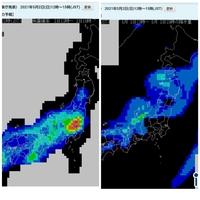 5月2日(日)の12~15時の降水量と発雷確率ですが、なぜ関東は雨が降らないの発雷確率が高いのですか?