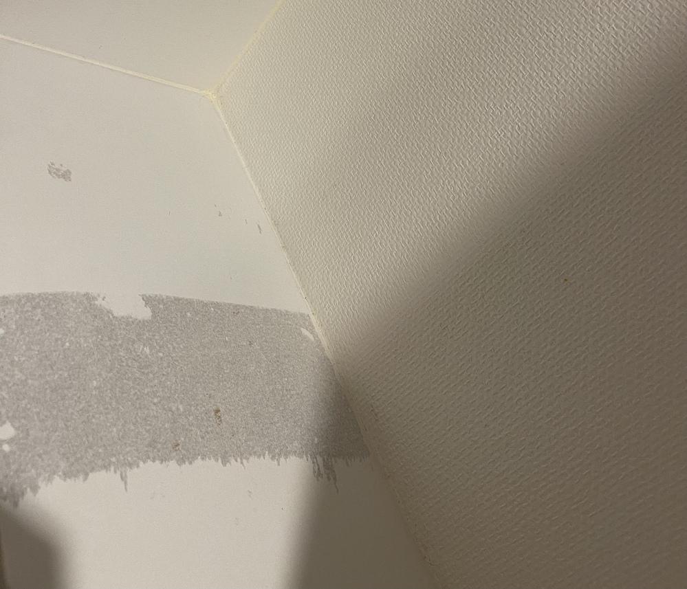 リメイクシートにてDIYする際知識がなく、下地など貼らずに貼ってしまいました。 剥がした際このように元の板の塗装まではげてしまったのですが、自分で直すことは可能でしょうか?