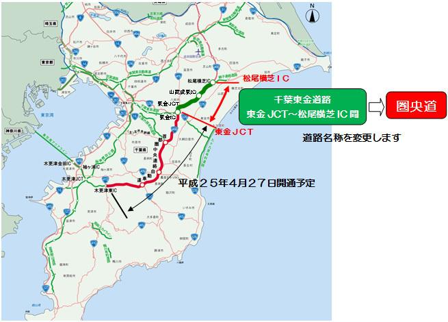 圏央道の東金IC〜松尾横芝IC間は「千葉東金道路」でしたが、何故最初から「圏央道」ではなかったのですか?