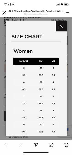 至急です!!! チップ250枚! Windsor Smith(ウィンザースミス)の靴のサイズ表記です。私は普段22.5〜23.0の靴を履いています。その場合サイズは6からあるみたいなのですがど...