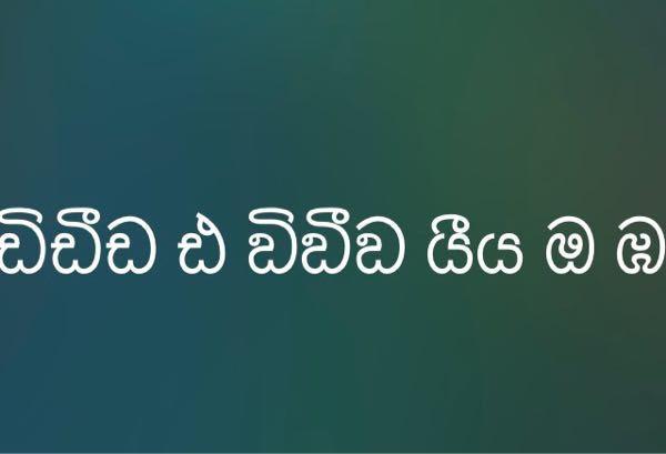 シンハラ語の翻訳をしていただきたいです。 出来る方よろしくお願いいたします。