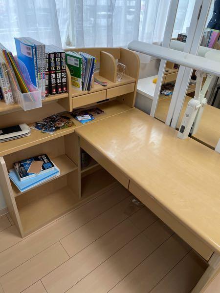 この机って横の棚を前に持ってくる事は可能ですよね?