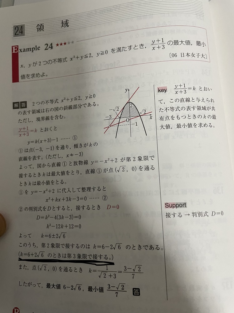 ⚠️至急⚠️ この一文の解説をお願いします! 高校数学です。