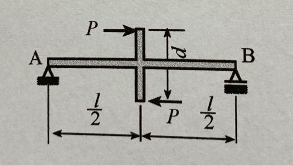 この画像の水平反力HA、垂直反力RA、RBを教えてください